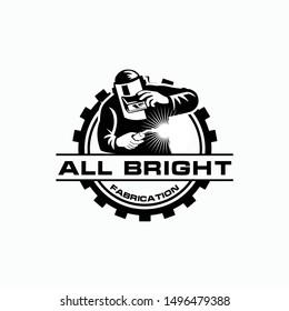 logo design with welder icon