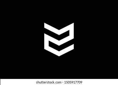 Logo design of Z ZZ ZM MZ in vector for construction, home, real estate, building, property. Minimal awesome trendy professional logo design template on black background.
