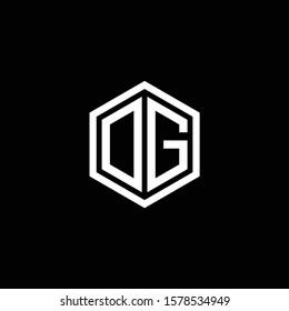 Logo DG Polygon geometric letter logo design vector. Hexagon logo concept for business