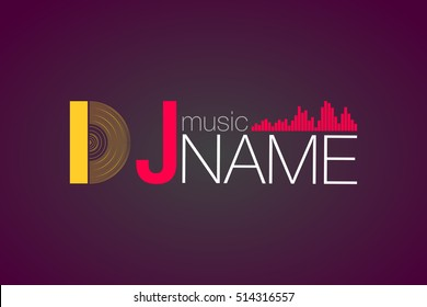 Logo  DJ  vector template design