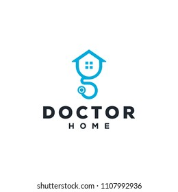 Logo for doctor home sign modern template