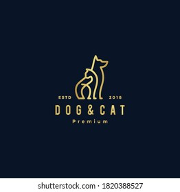 The logo of a dog