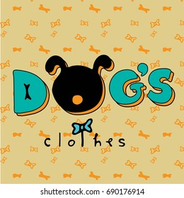 Logo for dog's brand clothes