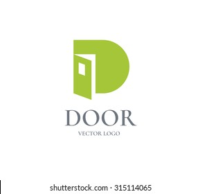 Logo Door design vector template.  Business concept