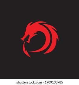 logo dragon icon templet vector