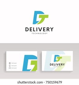 Logo DT company sign vector design.