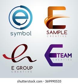 Logo E Design : Corporate Identity Logo : Vector Illustration