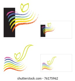 Logo - Eco / Environmental Theme (rainbow motive and a little plant seedling)
