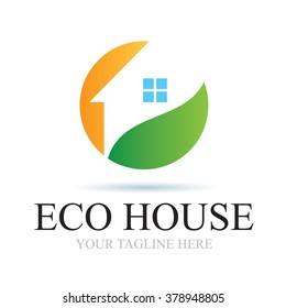 Logo Eco House Icon Element Template Design Logos