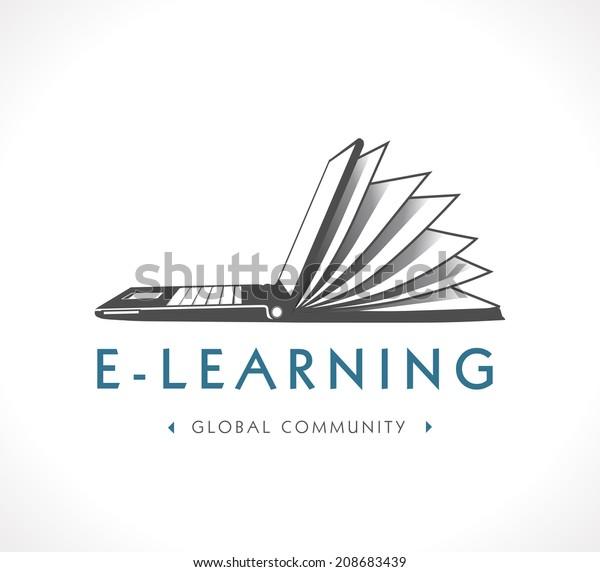 Logo Elearning Stock Vector Royalty Free 208683439