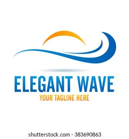Logo Elegant Wave Icon Element Template Design Logos