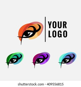 Logo element, color eyes, logotype