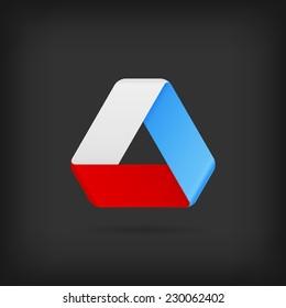 Logo Or Emblem Template. Vector Icon. Infinite Mobius Strip.