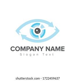 Logo eye optik finance chart