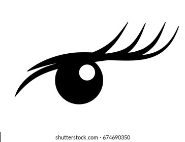 Logo Eyelash extension. A beautiful make-up. Mascara for volume and length.