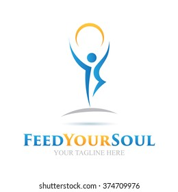 Logo Feed Your Soul Icon Element Template Design Logos