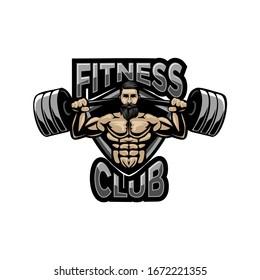logo for fitness center, bodybuilder, youtuber healty etc.