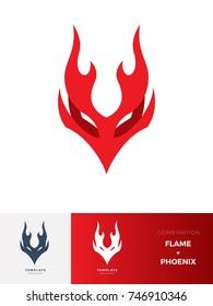 Logo Flame Creature : Phoenix
