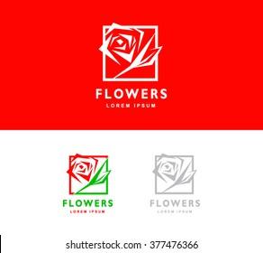 logo flowers rose symbol