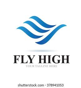 Logo Fly High Icon Element Template Design Logos