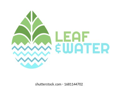 logo in the form of water droplets with a combination of leaf and water symbols. This logo has a natural theme and is suitable for environmental or food companies.