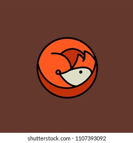 Logo of a Fox on a brown background