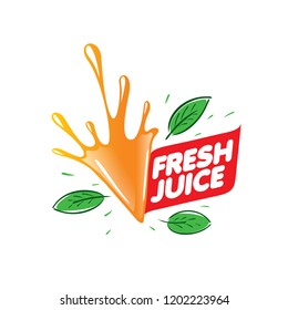 Logo for fresh juice. Vector illustration on white background.