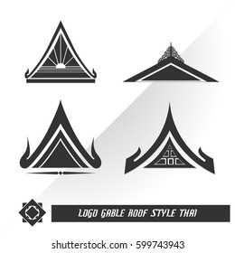 logo gable roof style thai