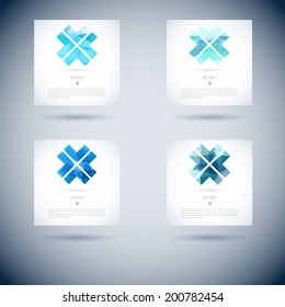 logo gem series of conceptual connection mark with shape object pattern for design logo gem straight water world evolution abstract technology glassware ripple cloud modern mark marketing wave warm se