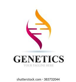 Logo Genetic Icon Element Template Design Logos