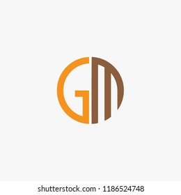 logo GM abstract, icon GM concept, alphabet symbol abstract