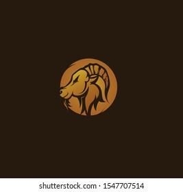 Logo Goat Mascot Iluustration Design