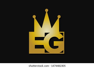 eg logo with gold crown