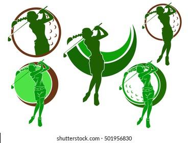 logo golf woman player