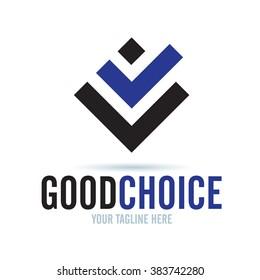 Logo Good Choice Icon Element Template Design Logos