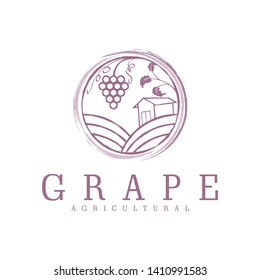 Logo for the grape farming industry or grape shop