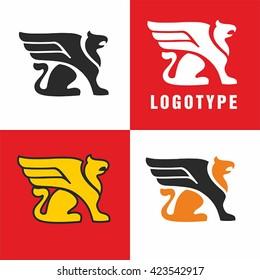 Logo griffin. Simple vector.