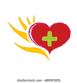 Logo Hand helps heart and mind 4