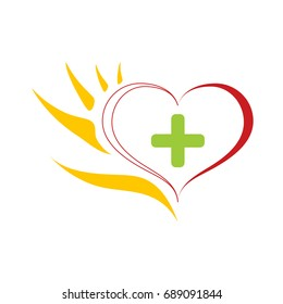 Logo Hand helps heart and mind