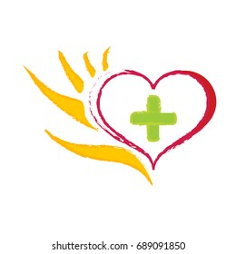 Logo Hand helps heart and mind 3