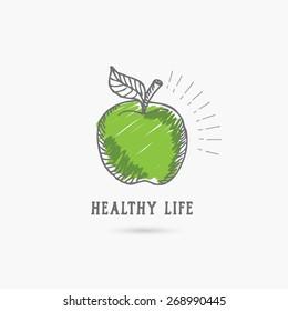 Logo healthy lifestyle. Design icon.