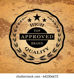 Logo of high quality product