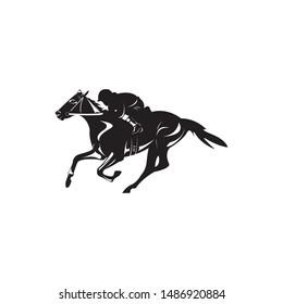 logo horse animal vector illustration sport