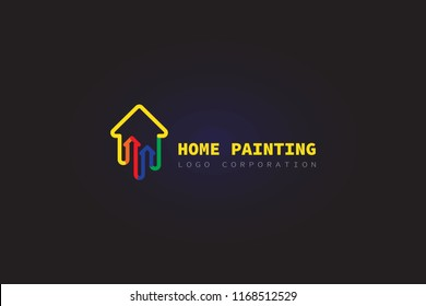 logo house painting simple and minimalis. can be use for real estate slogan ,house,home identity