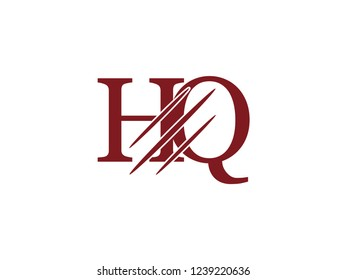the logo of the HQ letter with the style of scratching the incision