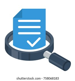 logo icon for business administration, document / file management
