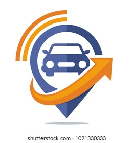 logo icon for communication media, car tracking application