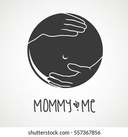 Logo, Icon Concept - baby care, pregnancy, baby shop, nursing, gynecology, obstetrics, baby-care