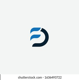 Logo and icon designs with letter FD