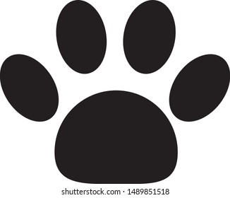 Logo Icon Dog or Cat Paw Sign  Symbol - Vector